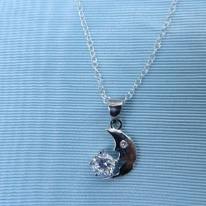 Jewelry - NEW- Sterling Silver Cubic Zirconia Necklace